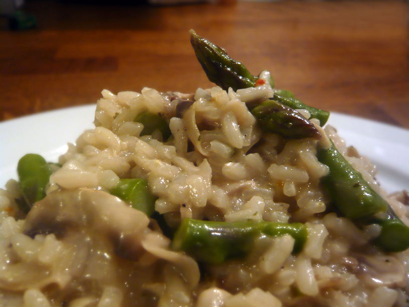 Mushroom and Asparagus Risotto | LondonEats